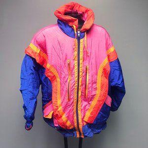 VTG 80s Gallery Goose Down Ski Jacket Colorful
